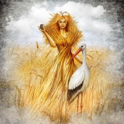Поляся. Рисунок Евгения Кота