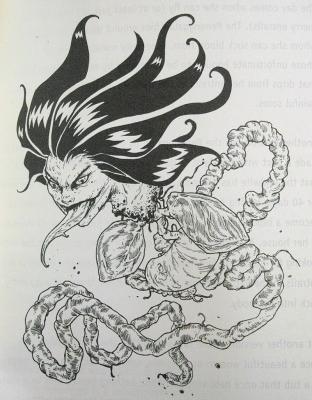 """Пенангаллан. Иллюстрация Мод Кадира (Mohd Kadir) из книги """"Малазийская книга нежити"""""""