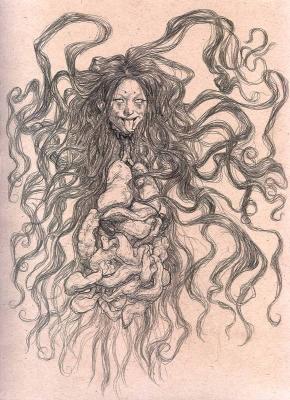 """Пенанггалан. Рисунок Курта Комода (Kurt """"TickleMeCthulhu"""" Komoda)"""