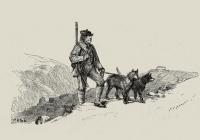 Пер Гюнт охотится в норвежских горах. Гравюра Ханса Хансена по рисунку Петера Арбо к сказке из собрания Петера Асбьёрнсена, 1879