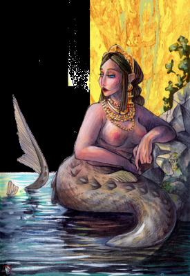 Фараонка. Иллюстрация Лидии Магоновой (Ink-Yami)