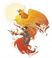 Феникс. Иллюстрация Александрии Хантингтон