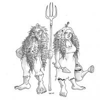 Полевики. Рисунок Айзека Хорна