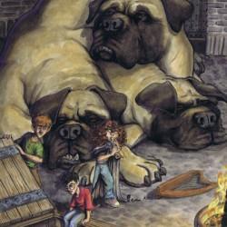 """Пушок. Иллюстрация Кейта Джеймса к книге """"Гарри Поттер и философский камень"""""""
