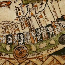 Чудовищные племена. Псалтырная карта. Англия, XIII век