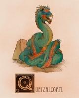 """Кецалькоатль. Иллюстрация Натана Андерсона (Nathan J. Anderson, """"Deimos-Remus"""")"""