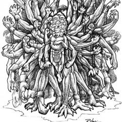 Гекатонхейр. Рисунок Ракаэля Майо