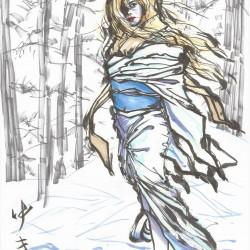 Юки-онна. Рисунок Сёты Котакэ
