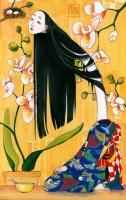 Рокуроккуби. Иллюстрация Лидии Магоновой (Ink-Yami)