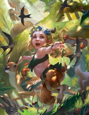 """Девочка-сатир. Иллюстрация Руди Сисванто из серии """"Baby Bestiary"""""""