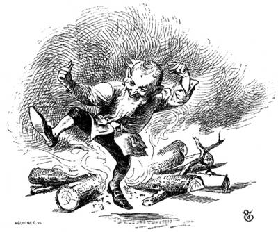 Румпельштильцхен (Rumpelstilzchen). Иллюстрация Филиппа Грот-Иоганна к сказке братьев Гримм