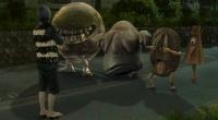 """Кадр из экранизации манги Сигеру Мидзуки """"Gegege no Kitarô"""" (""""Hakaba Kitarou"""")"""