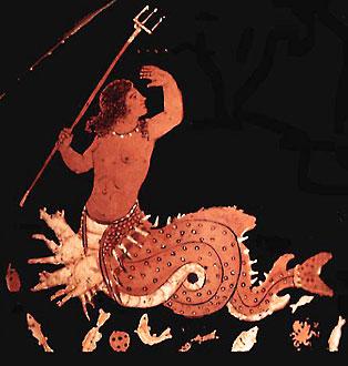 Сцилла. Краснофигурная керамика