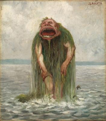 Морской тролль (Sjøtrollet). Иллюстрация Теодора Киттельсена, 1881