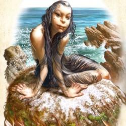 "Селки. Иллюстрация Ника Харриса из книги ""Мифические существа"""