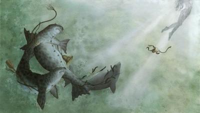 Шелки. Иллюстрация Кейт Лейпер