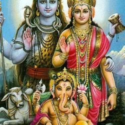Семья Шивы. Традиционный рисунок