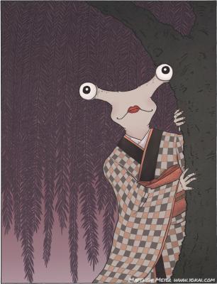 Сюмоку-мусумэ. Иллюстрация Мэтью Мэйера