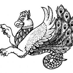 Симург. Иллюстрация Мерли Инсинга