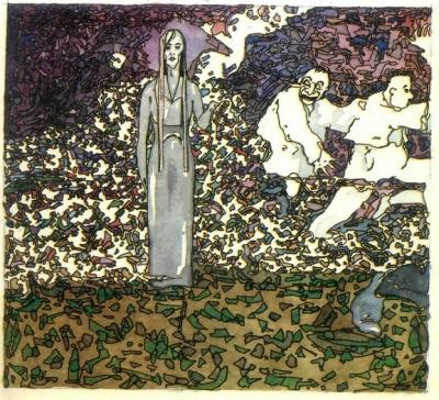 Девушка с замчища. Иллюстрация Алексея Новицкого