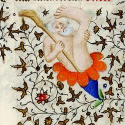 Скиапод. Иллюстрация из средневекового манускрипта