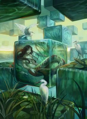 Спящая наяда. Иллюстрация Джули Диллон