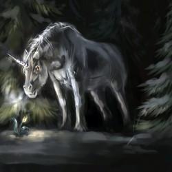 Snow Unicorn. Иллюстрация Скади