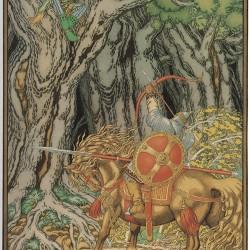 Илья Муромец и Соловей-разбойник. Иллюстрация Ивана Билибина (1940)