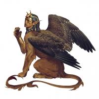 Сфинкс. Иллюстрация Анны Подедворной к бестиарию сеттинга Pathfinder
