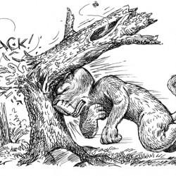 Кот-расщепенец. Рисунок Брюса Ван Паттера