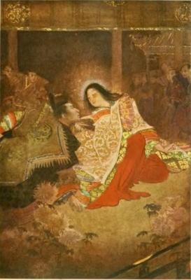 Император и Тамамо-но Маэ. Иллюстрация Эвелин Пол (Evelyn Paul)