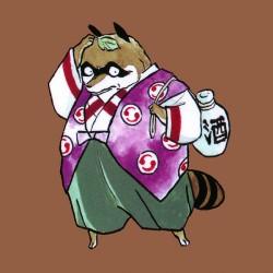 """Тануки. Рисунок Румико Такахаси из манги """"Ину-яся"""""""