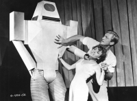 """Рекламное фото к фильму """"Цель — Земля"""" (Target Earth, 1954)"""