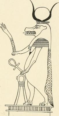 Богиня Таурт. Изображение из описи III и IV египетских залов Британского музея
