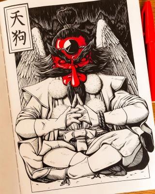 Тэнгу. Иллюстрация Ксении Штайнер