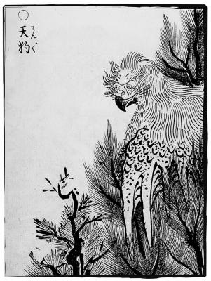 Тэнгу. Иллюстрация Ториямы Сэкиэна