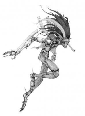 Тэнгу. Рисунок Алексея Монжалея