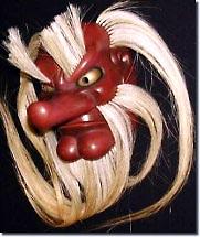 Деревянная маска ямабуси тэнгу