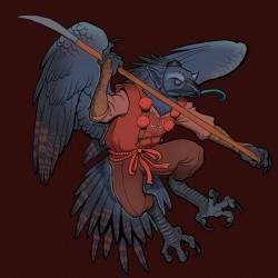 Тэнгу. Иллюстрация Мелиты Кёрфи
