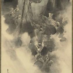 Тенгу. Рисунок Ôhara Donshû