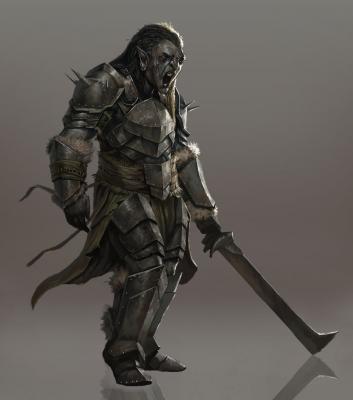Орк-пехотинец. Иллюстрация Джоша Корпуза