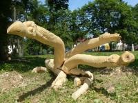 Цмок молодеченский (деревянная скульптура)