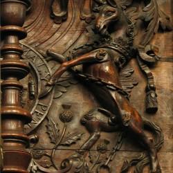 Королевский единорог. Резьба по дереву, Кембриджский университет
