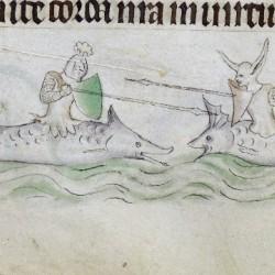 Битва Зириддаров. Рисунок из Псалтиря королевы Мэри