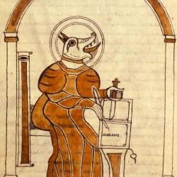 Кинокефальное изображение апостола Марка (Х век)