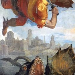 """Цетус-кит на фрагменте картины Паоло Веронезе """"Персей спасает Андромеду"""""""
