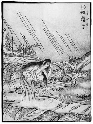 Убумэ. Иллюстрация Ториямы Сэкиэна