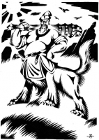 """""""Полкан-богатырь"""". Рисунок Константина Кунщикова"""
