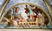 Улисс (Одиссей) и сирены. Фреска Аннибале Карраччи в Палаццо Фарнезе, Рим, 1597