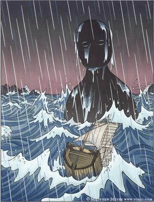 Уми-бодзу. Иллюстрация Мэтью Мэйера